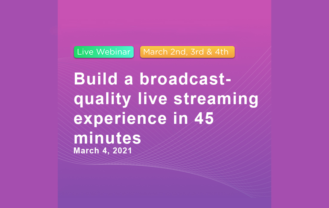 Bereitstellung eines Live-Streams in Broadcast-Qualität in nur 45 Minuten